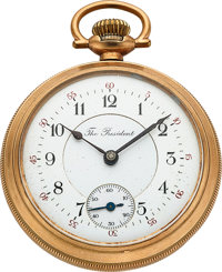 """U.S. Watch Co. at Waltham """"The President"""" Two Tone"""