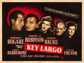 "Movie Posters:Film Noir, Key Largo (Warner Brothers, 1948). Fine/Very Fine on Linen. BritishQuad (30"" X 40"").. ..."
