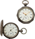 Timepieces:Pocket (pre 1900) , Tremont Watch Co. Early Washington St. No. 5264 & Rare Unsigned, Un-Numbered Prototype. ... (Total: 2 Items)