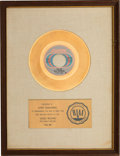 "Music Memorabilia:Memorabilia, Bill Withers ""Use Me"" RIAA Gold Sales Award (Sussex, SUX 241). ..."