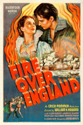 "Movie Posters:Drama, Fire Over England (United Artists, 1937). Fine/Very Fine on Linen.One Sheet (27"" X 41"")...."
