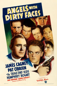 "Angels with Dirty Faces (Warner Brothers, 1938). Very Good/Fine on Linen. One Sheet (26.75"" X 40.25"")"