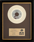 "Music Memorabilia:Memorabilia, The Go-Go's ""We Got the Beat"" In-House Gold Sales Award (IRS, IR-9903). ..."