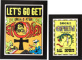 """Music Memorabilia:Photos, """"Let's Go Get Stoned"""" and """"Smoke Opium"""" Posters (circa 1960s). ... (Total: 2 Items)"""