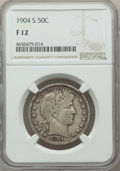 Barber Half Dollars: , 1904-S 50C Fine 12 NGC. NGC Census: (18/72). PCGS Population: (68/290). CDN: $325 Whsle. Bid for problem-free NGC/PCGS Fine...