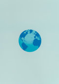 Prints & Multiples, Ed Ruscha (b. 1937). The World and It's Surroundings, from The Global Edition Series, 1982. Lithograph in colors on ...