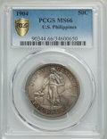 Philippines, 1904 50C MS66 PCGS Gold Shield. PCGS Population: (8/3 and 1/0+). NGC Census: (0/0 and 0/0+)....