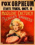 Movie Posters:Drama, The Scarlet Empress (Paramount, 1934). Fine. Jumbo...