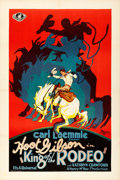 "Movie Posters:Western, King of the Rodeo (Universal, 1929). Very Fine+ on Linen. One Sheet(27"" X 41"").. ..."