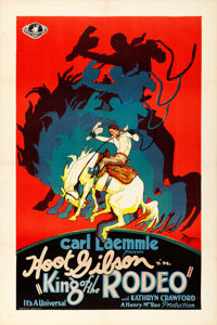 "King of the Rodeo (Universal, 1929). Very Fine+ on Linen. One Sheet (27"" X 41"")"