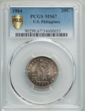 Philippines, 1904 20C MS67 PCGS Gold Shield. PCGS Population: (5/1 and 0/0+). NGC Census: (2/0 and 0/0+)....