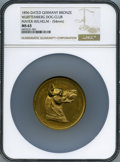 "German States:Württemberg, German States: Württemberg gilt bronze ""1st Place in InternationalDog Show"" Medal 1896 MS63 NGC,..."