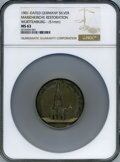 """German States:Württemberg, German States: Württemberg silver """"Restoration of the Marienkirche""""Medal 1901 MS63 NGC,..."""