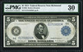 Fr. 862 $5 1914 Federal Reserve Note PMG Very Fine 30