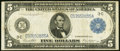 Fr. 855a $5 1914 Federal Reserve Note Fine-Very Fine