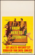 "Movie Posters:Academy Award Winners, From Here to Eternity (Columbia, 1953) Near Mint. Window Card (14"" X 22""). Academy Award Winners...."