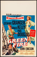 "Movie Posters:Adventure, Green Fire (MGM, 1954) Very Fine+. Window Card (14"" X 22""). Adventure...."