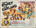 """Movie Posters:Musical, Girl Crazy (MGM, 1943) Fine/Very Fine on Paper. Half Sheet (22"""" X 28"""") Style B. Musical...."""