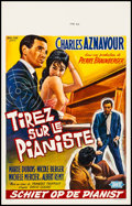 "Movie Posters:Foreign, Shoot the Piano Player (Royal, 1960) Very Fine on Linen. Belgian (13.75"" X 21.75""). Foreign...."