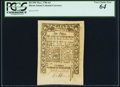 Colonial Notes:Rhode Island, Rhode Island May 1786 6d PCGS Very Choice New 64.. ...