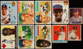 Autographs:Baseballs, 1940's - 1950's Topps, Bowman, Goudey And Leaf Baseball Card Collection (39) With Stars & HoFers. ...