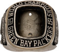 Football Collectibles:Others, 1965 Green Bay Packers (Bob Skoronski) NFL Championship Ring from The Domenic Gentile Collection. ...