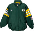 Football Collectibles:Uniforms, 1996-97 Desmond Howard Game Worn Green Bay Packers Sideline Jacket - Worn During Super Bowl Championship Season!...