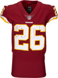 Football Collectibles:Uniforms, 2018 Adrian Peterson Game Worn, Unwashed Washington Redskins Jersey - Photo Matched to 10/8 vs. Saints. ...