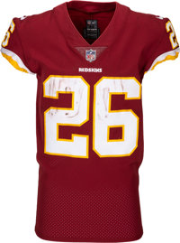 5a96963e5d1 2018 Adrian Peterson Game Worn, Unwashed Washington Redskins Jersey - Photo  Matched to 10/