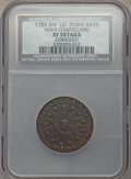 1783 C NOVA Nova Constellation Copper, Pointed Rays, Small US, -- Corroded -- NCS. XF. NGC Census: (7/37). PCGS Populati...