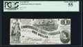 Confederate Notes:1862 Issues, T44 $1 1862 PF-3 Cr. 341 PCGS Choice About New 55.. ...
