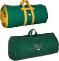 Football Collectibles:Others, 1960's-'70's Green Bay Packers Equipment Bags Lot of 2 from The Domenic Gentile Collection. ...