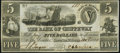 Obsoletes By State:Michigan, Sault De St. Marys, MI- Bank of Chippeway $5 Jan. 3, 1838 Crisp Uncirculated.. ...