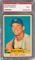 Baseball Cards:Singles (1950-1959), 1954 Red Heart Mickey Mantle PSA NM 7....