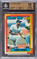 Baseball Cards:Singles (1970-Now), 1990 Topps Tiffany Frank Thomas #414 BGS Pristine 10 - Pop Six. ...