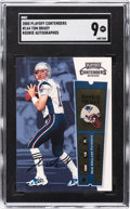 Football Cards:Singles (1970-Now), 2000 Playoff Contenders Tom Brady Rookie Autograph #144 SGC Mint 9....