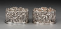 Silver & Vertu:Hollowware, A Pair of Silver Wine Coasters, 20th century. Marks: 900, ARDA. 2-1/4 x 4-1/8 inches (5.7 x 10.5 cm) (each). 14.95 troy ... (Total: 2 Items)