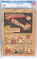 Golden Age (1938-1955):Superhero, Superman #1 Coverless (DC, 1939) CGC NG Brittle pages....