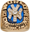 Baseball Collectibles:Others, 1996 New York Yankees World Championship Pendant Crafted into Ring....