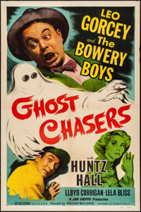"""Ghost Chasers (Monogram, 1951) Folded, Fine/Very Fine. One Sheet (27"""" X 41""""). Comedy"""