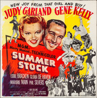 "Summer Stock (MGM, 1950) Folded, Fine/Very Fine. Six Sheet (80"" X 80.5""). Musical"