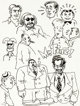 Robert Crumb Mr. Fine! and Other Characters Montage of Miniature Sketches Original Art (c. 1960s).... (1)