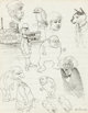 Robert Crumb Fritz the Cat and Vampire and Other Characters Sketchbook Page Original Art (1960).... (1)