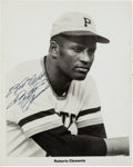 Baseball Collectibles:Photos, Circa 1970 Roberto Clemente Signed Photograph. ...