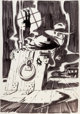 Jim Steranko The Shadow and Batman Preliminary Original Art (c. 1970s).... (1)