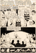 "Original Comic Art:Splash Pages, Murphy Anderson Planet Comics #37 Splash Page ""Star Pirate""Original Art (Fiction House, 194..."