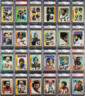 Autographs:Sports Cards, Signed 1978 Topps Football Complete Set (524) - Almost 600 Signatures! ...