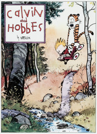Bill Watterson Calvin and Hobbes Signed Limited Edition Lithograph Print #600/1000 (Watterson, 1992)