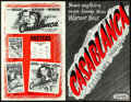 """Movie Posters:Academy Award Winners, Casablanca (Warner Brothers, 1942). Folded, Very Fine+. UncutPressbook (24 Pages, Plus 8 Page Ad Supplement, 11"""" X 1..."""