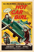 "Movie Posters:Exploitation, Hot Car Girl (Allied Artists, 1958). Folded, Very Fine-. One Sheet(27"" X 41"").. ..."